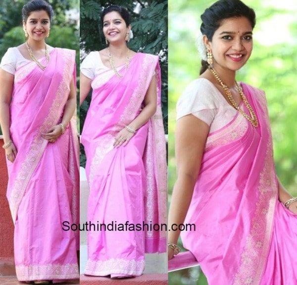 Swati in traditional saree