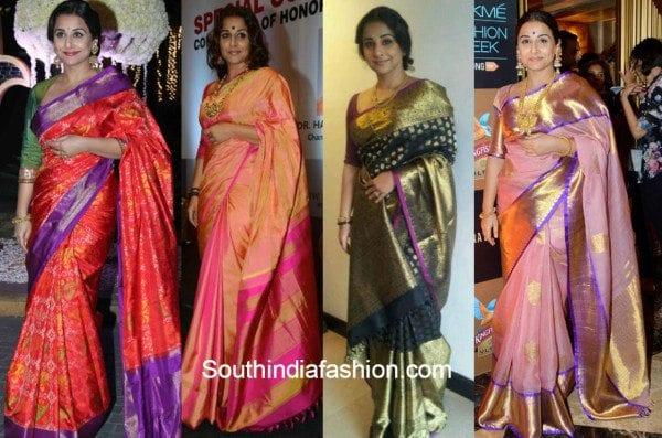 Vidya Balan in Gaurang shah sarees