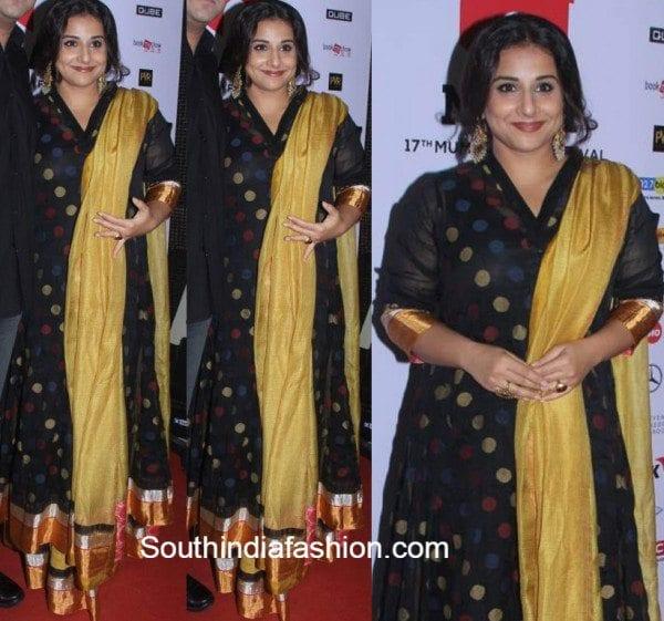 Vidya Balan in a gaurang shah anarkali at mumbai film festival