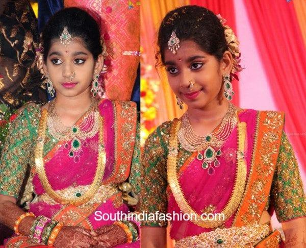 Shriya S Half Saree Function South India Fashion