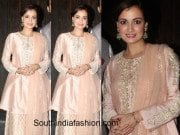 dia mirza at a diwali party