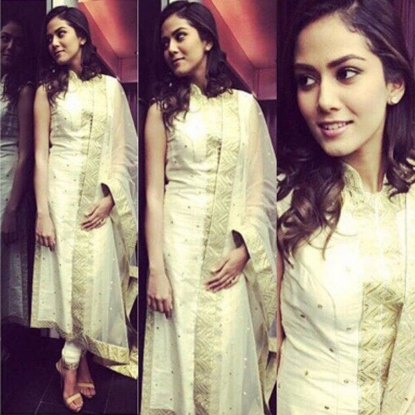 Mira Kapoor in Tamanna Kapoor outfit for Diwali Celebrations
