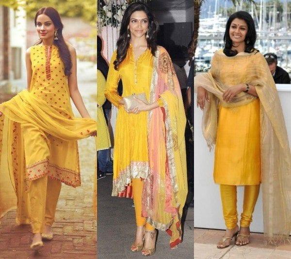 Yellow Salwar Suits