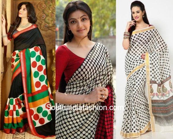 polka dotted sarees