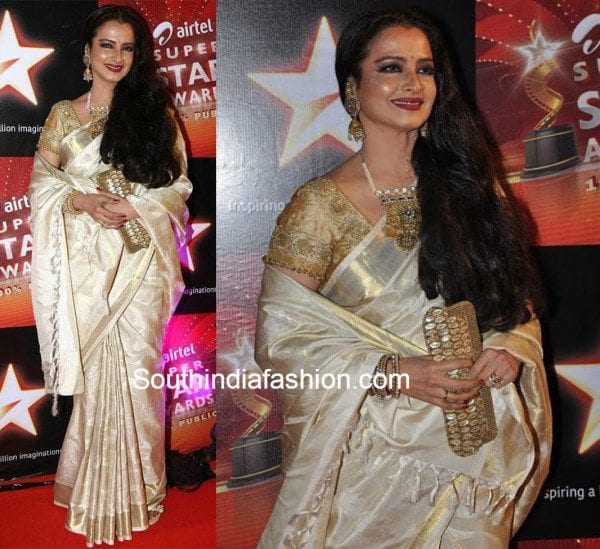 07b28c0c3c240a 7 Of the best kanjeevaram's Rekha wore!