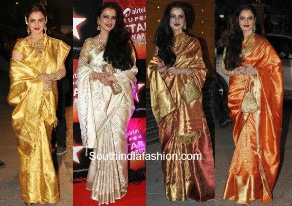 07b28c0c3c240a 7 Of the best kanjeevaram's Rekha wore!