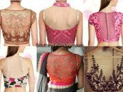 sheer back neck blouse designs feat