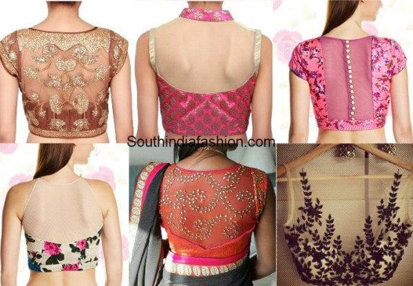 sheer bloiuse back nect designs
