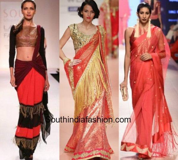 Fringe sarees