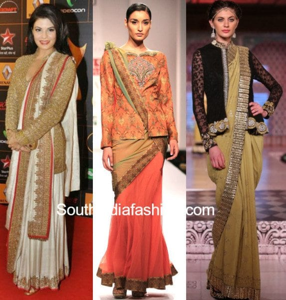 Jacketted sarees
