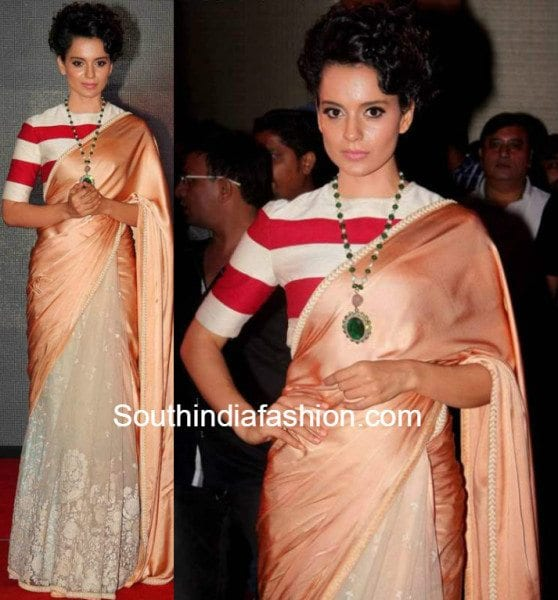 Kangana Ranaut in saree 1 558x600