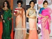 Kangana Ranaut's ten best saree appearances