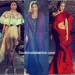 Kareena Kapoor in Varun Bahl, Sonakshi Raaj and Gaurav Gupta
