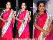 Ramya Krishna in a pink saree