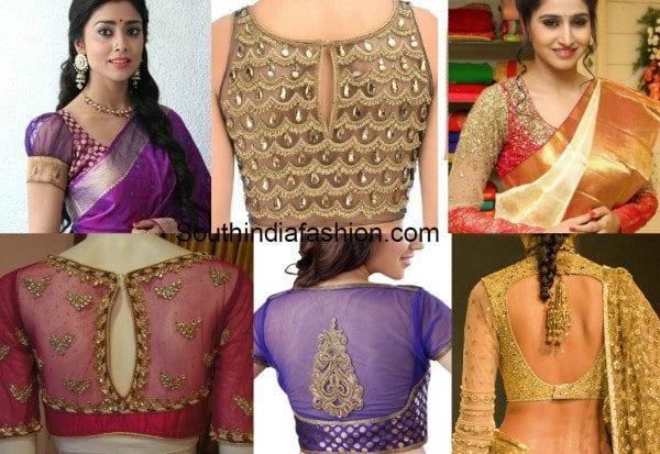 Sheer blouses for kanjeevarams