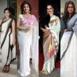 Tips to flaunt the classic white sarees