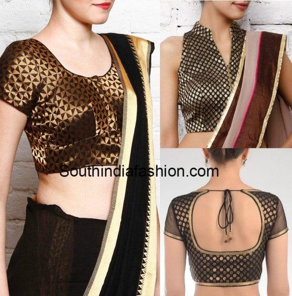 brocade black blouses collage
