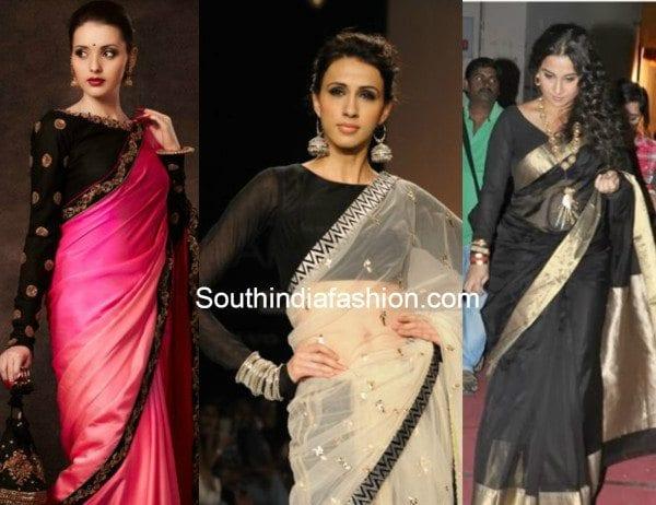 black full sleeved blouses collage