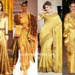 Going golden : Golden Kanjeevarams to make you shine on your big day!