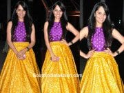 Anasuya Bharadwaj in a crop top and lehenga