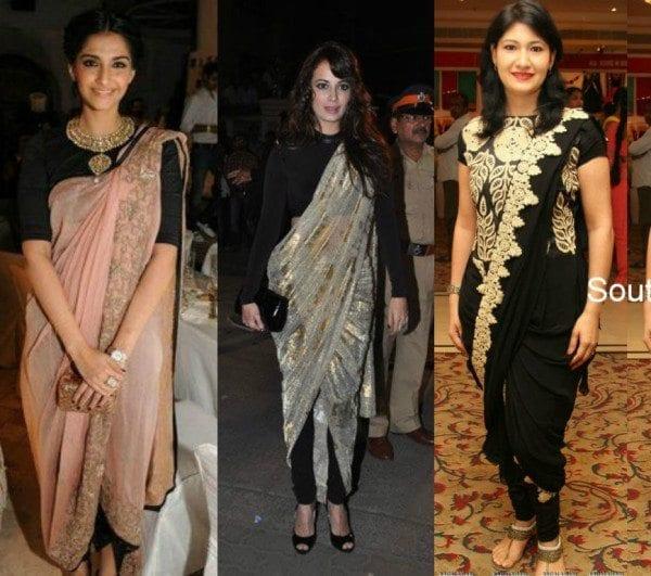how to wear dhoti saree