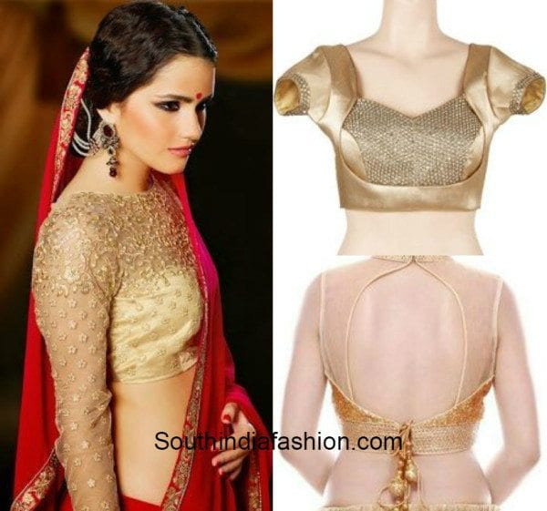 Gold blouses with net