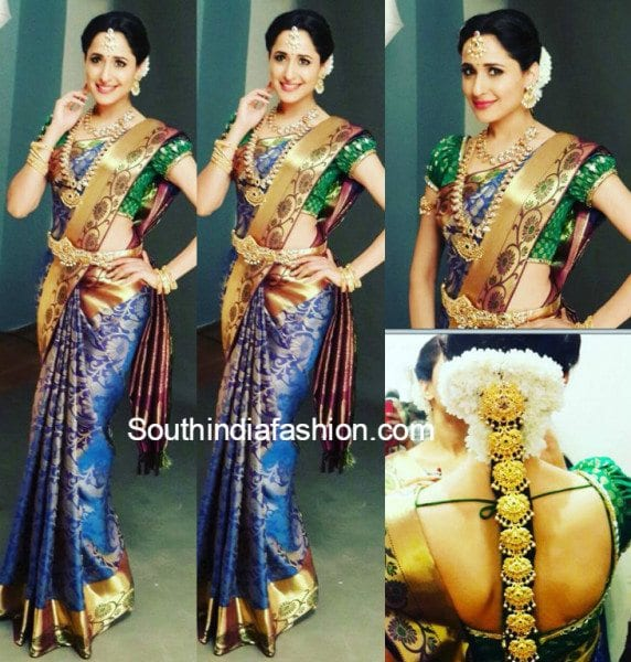 6e0aa60fd3403c Pragya Jaiswal in a kanjeevaram – South India Fashion
