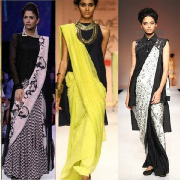 Sarees with tunics 2