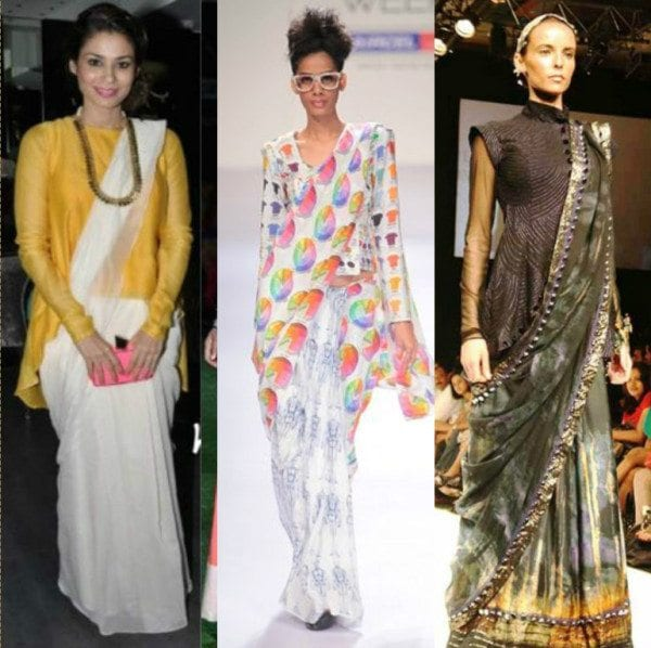 Sarees with tunics 8