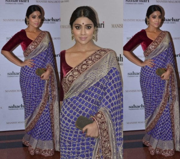 Shriya Saran In Manish Malhotra Saree