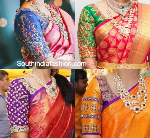 d3c75f7063be57 Maggam Work Wedding Blouse Designs – South India Fashion