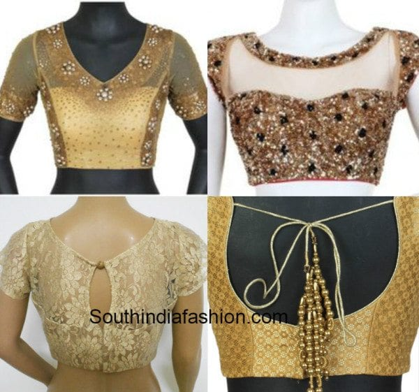 Gold blouses with work
