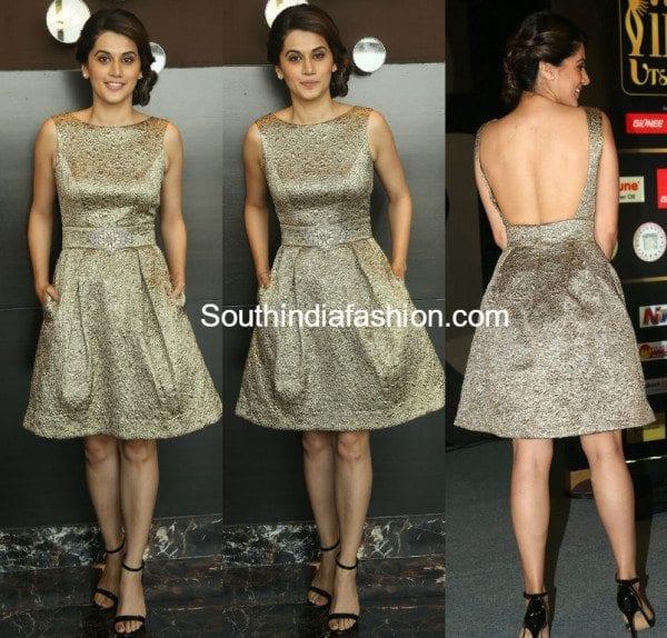 taspee_pannu_gold_dress