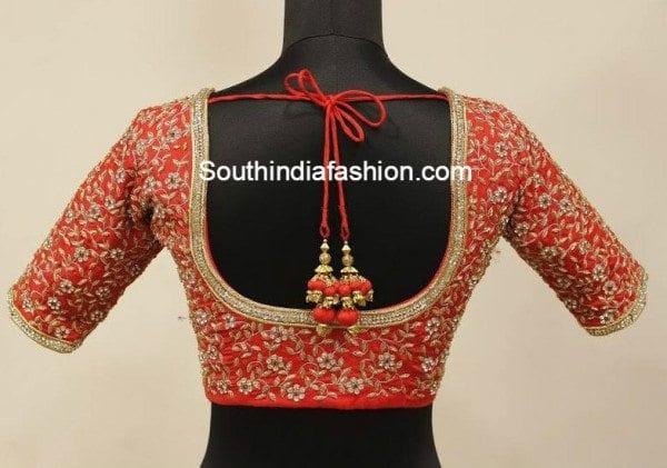 wedding saree blouse
