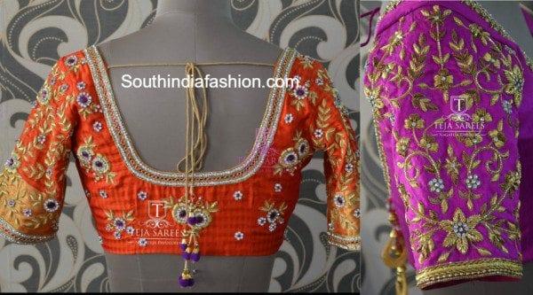 zardosi_work_blouse_for_wedding_silk_sarees