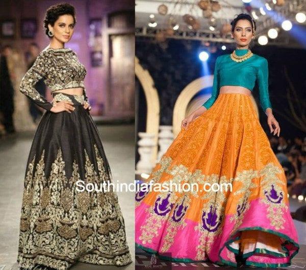 wedding trend   the crop top amp lehenga south india fashion