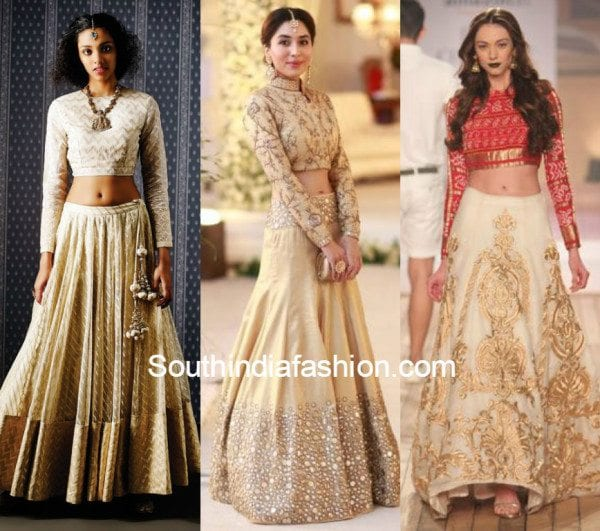 fb88f51548 Wedding Trend - The Crop Top & Lehenga! – South India Fashion