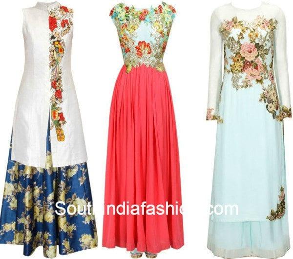 Floral Indo Westerns