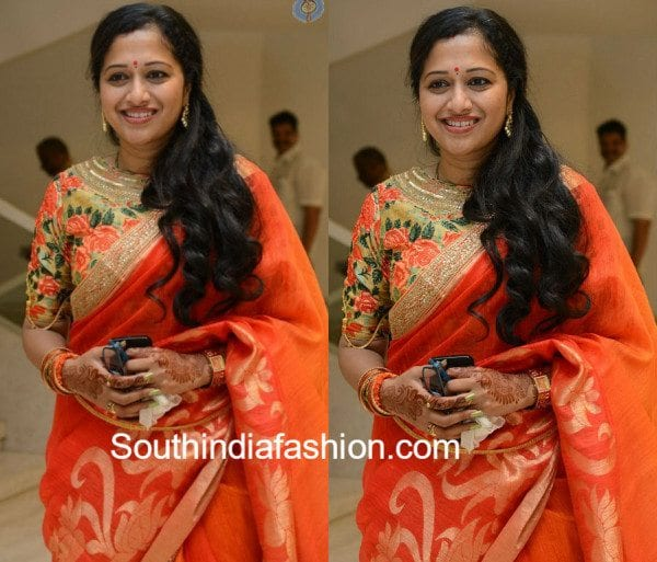 anitha_chowdary_boat_neck_floral_blouse