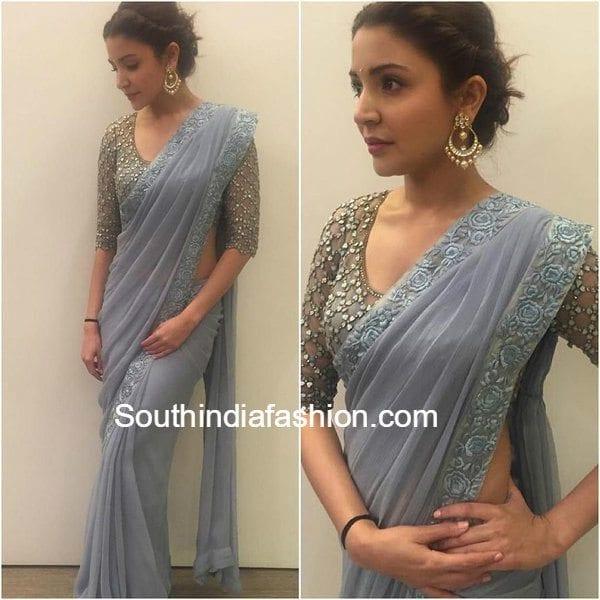 Anushka Sharma In Monisha Jaising Saree