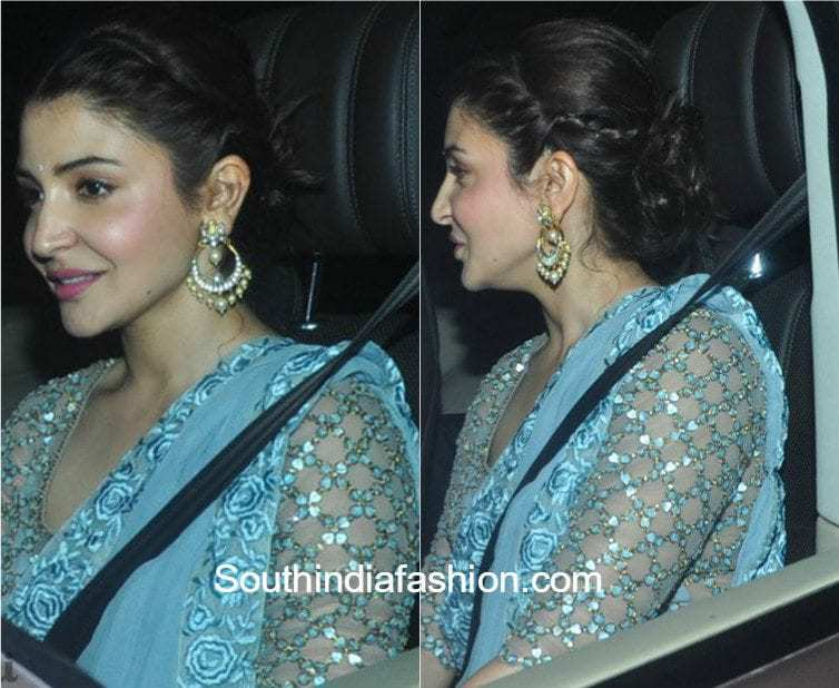 Anushka Sharma In Monisha Jaising Saree South India Fashion