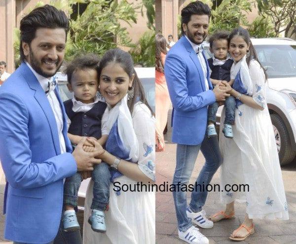 Genelia D Souza Flaunts Her Baby Bump In Anita Dongre