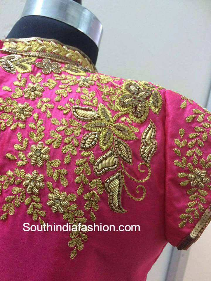 Maggam Work Blouse Designs South India Fashion
