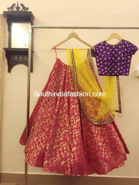 Party Wear Lehengas And Crop Tops By Ashwini Reddy South