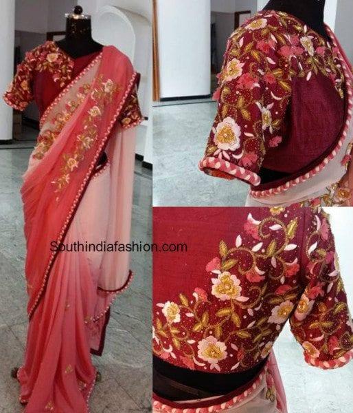 maggam designer saree