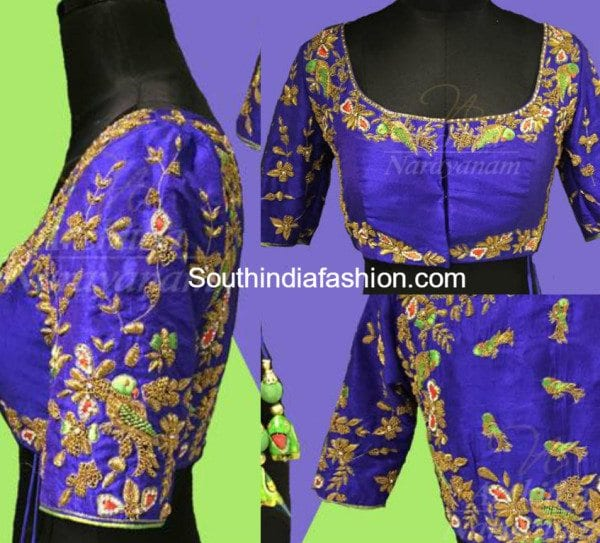 Zardosi Work Blouse Design 82