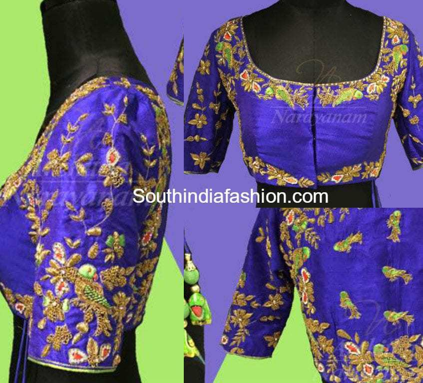 Zardosi Work Blouse Designs 51