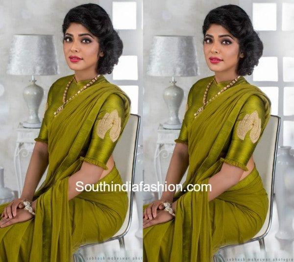 Rima Kallingal In Pranaah Saree South India Fashion