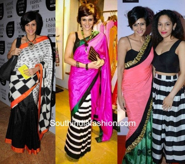 Mandira Bedi in quirky Sarees