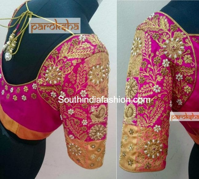 Designer work blouses for pattu sarees